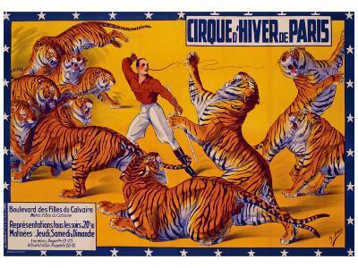 Dompteurs de Tigres, Cirque d'Hiver-G. Soury-Giclee Print
