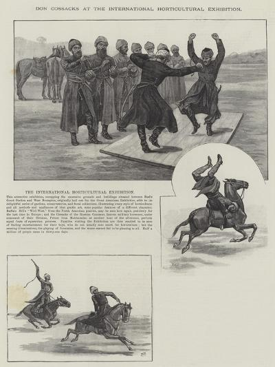 Don Cossacks at the International Horticultural Exhibition--Giclee Print