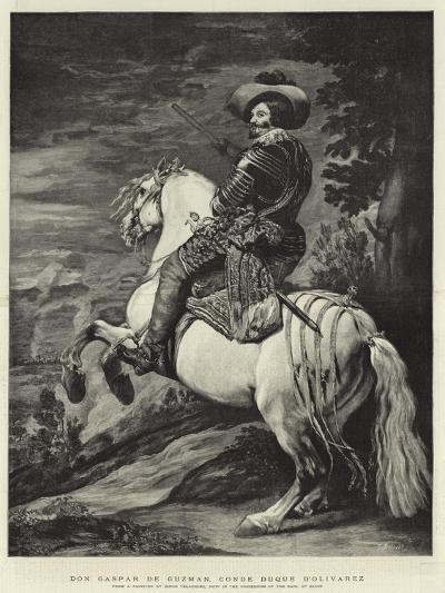 Don Gaspar De Guzman, Conde Duque D'Olivarez-Diego Velazquez-Giclee Print
