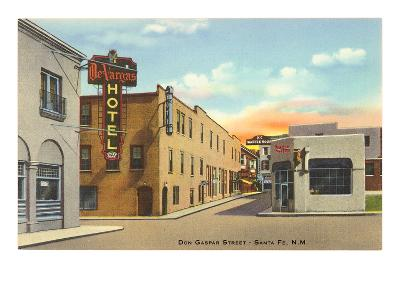 Don Gaspar Street, Santa Fe, New Mexico--Art Print