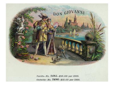 Don Giovanni Brand Cigar Inner Box Label-Lantern Press-Art Print