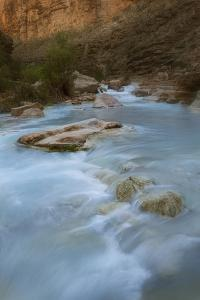 Arizona, Grand Canyon NP. Havasu Creek's Blue Water Through Canyon by Don Grall