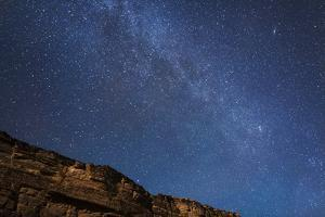 Arizona, Grand Canyon NP. The Milky Way Above Rim of Marble Canyon by Don Grall