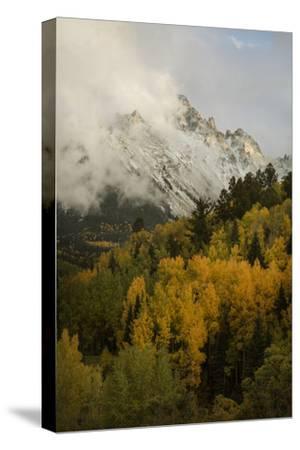 Colorado, Sneffels Range. Clouds over Mountain Landscape at Sunset