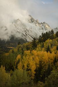 Colorado, Sneffels Range. Clouds over Mountain Landscape at Sunset by Don Grall