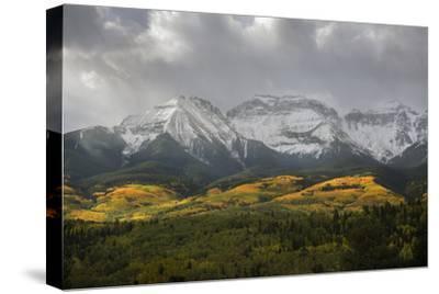 Colorado, Sneffels Range. Morning Snow Clouds over Mountain Landscape