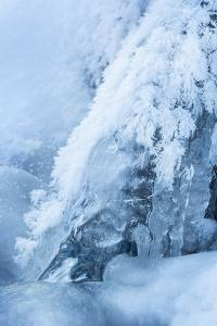 Colorado, Woodland Park. Ice and Frost Formation on Small Waterfall by Don Grall