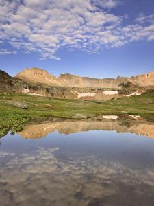 Reflection of Three Needles Mountain and Porphyry Basin, San Juan Mountains of Colorado, USA by Don Grall