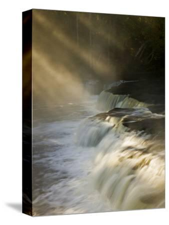 Sunbeams on Tahquamenon Falls, Upper Peninsula, Michigan, USA