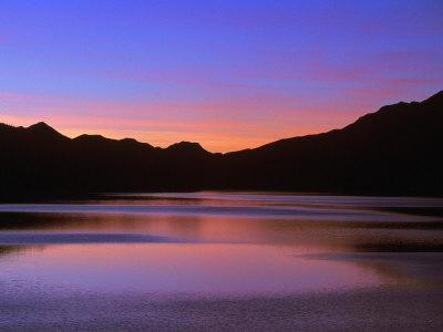 Sunset, Medicine Lake, Jasper National Park, Canada