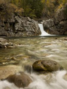 The Crystal River Pours over a Rock Ledge Next to the Crystal River Mill in Colorado by Don Grall