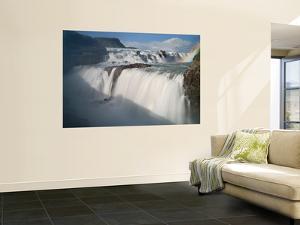 The Hvita River Roars Over Gullfoss Waterfall, Iceland by Don Grall