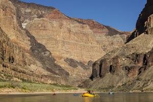 USA, Arizona, Grand Canyon National Park. Kayakers on Colorado River by Don Grall