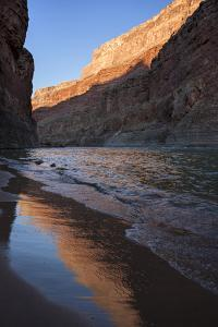 USA, Arizona, Grand Canyon National Park. Sunrise Reflects Off Sand by Don Grall