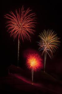 USA, Colorado, Salida. July 4th Fireworks Display by Don Grall
