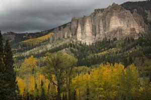 USA, Colorado, San Juan Mountains. Storm Clouds over Mountain by Don Grall