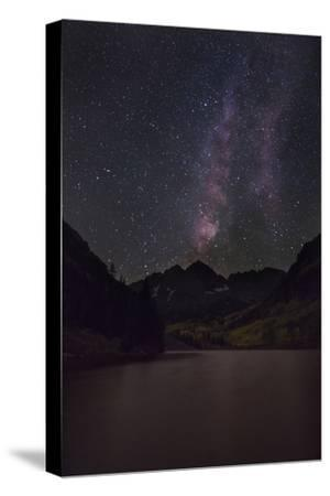 USA, Colorado. the Milky Way Above Maroon Bells Mountains and Lake