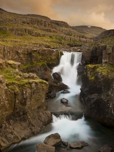 Waterfall in Berufjordur Fjord, Iceland by Don Grall