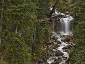 Waterfall on Lime Creek in Southwestern Colorado, USA by Don Grall