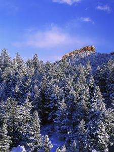 Winter Snow in the Flatirons Boulder, CO by Don Grall