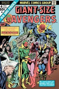Giant-Size Avengers No.4 Cover: Vision, Scarlet Witch, Thor, Iron Man and Dormammu by Don Heck