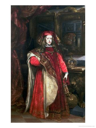 King Charles II of Spain Wearing the Robes of the Order of the Golden Fleece