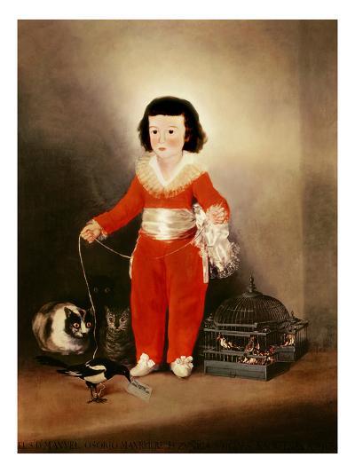 Don Manuel Osorio Manrique De Zuniga (1784-92) 1790S-Francisco de Goya-Giclee Print