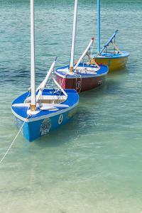 Bahamas, Exuma Island. Boats Moored in Harbor by Don Paulson