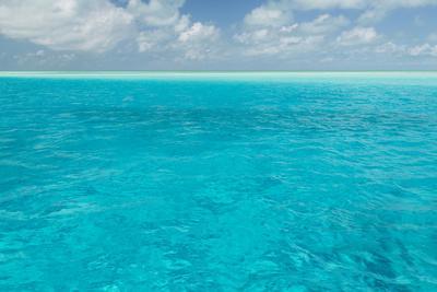 Bahamas, Exuma Island. Seascape of Aqua Ocean