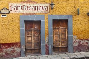 Mexico, San Miguel de Allende. Exterior of Bar Casanova. by Don Paulson