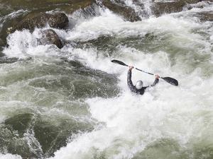 North Carolina. White-Water Kayaking, Nantahala River, North Carolina by Don Paulson