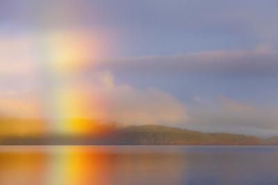 Usa, Washington State, Kitsap County, Seabeck, Hood Canal, Sunrise Rainbow over the Sea by Don Paulson Photography