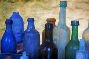 South Carolina, Charleston. Old Bottles Excavated from Slave Quarters by Don Paulson