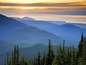 Sunset View from Deer Park, Olympic National Park, Washington, USA by Don Paulson