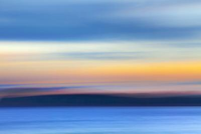 USA, Washington State, Hood Canal. Abstract of Ocean and Sky