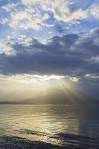 USA, Washington State, Seabeck. God Rays over Hood Canal by Don Paulson