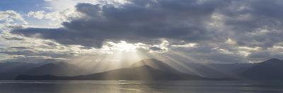 Washington State, Seabeck. Composite of God Rays over Hood Canal by Don Paulson