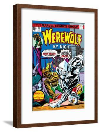 Werewolf By Night No.32 Cover: Moon Knight and Werewolf By Night