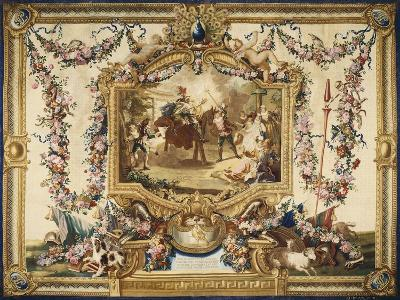 Don Quixote and Sancho on Wooden Horse Gobelins Tapestry--Giclee Print