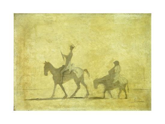 Don Quixote and Sancho Pansa-Honor? Daumier-Giclee Print