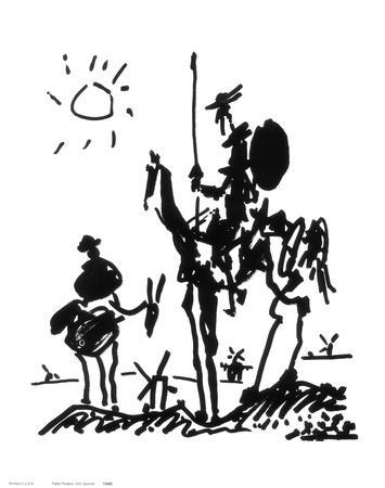 Don Quixote C 1955 Art Print By Pablo Picasso