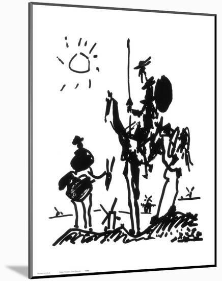 Don Quixote, c.1955-Pablo Picasso-Mounted Art Print