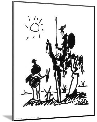 Don Quixote, c.1955-Pablo Picasso-Mounted Print