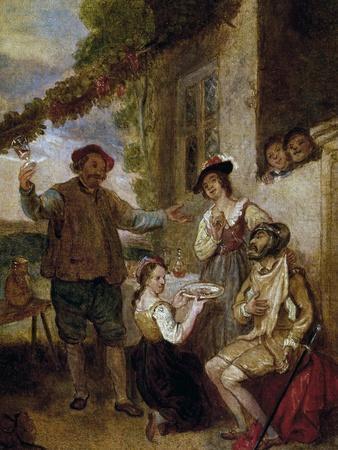 Don Quixote Outside An Inn, Painting By John Michael Wright Giclee Print By  | Art.com