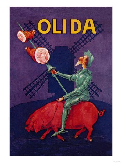 Don Quixote Riding a Pig--Art Print