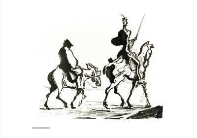 Don Quixote Art Print By Honore Daumier