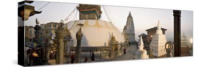 A Panorama Formed of Three Frames Giving a Very Wide Angle View, Kathmandu, Nepal