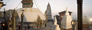 A Panorama Formed of Three Frames Giving a Very Wide Angle View, Kathmandu, Nepal by Don Smith