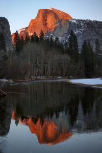 Alpenglow Light on Half Dome by Don Smith