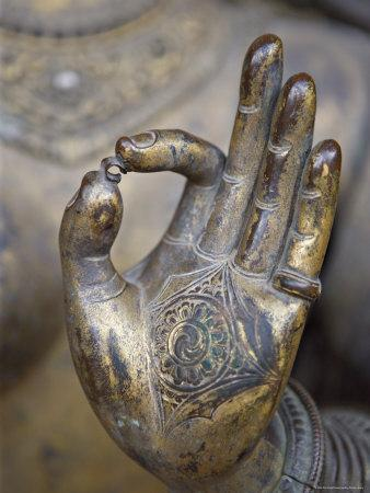 Close-Up of the Hand of Ganga, Kathmandu Valley, Nepal